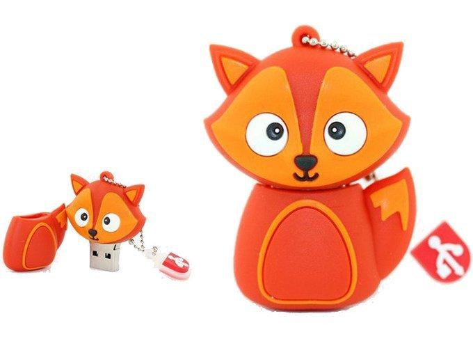 PENDRIVE LIS FOX ZWIERZĘ PAMIĘĆ FLASH USB 16GB