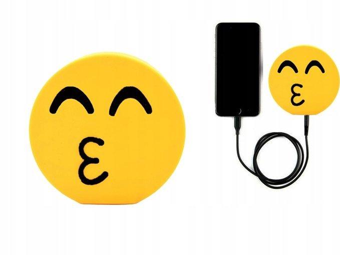 Power Bank Emotikona Kiss Emoji Ladowarka Bateria Power Bank Uniwersalne Indygo