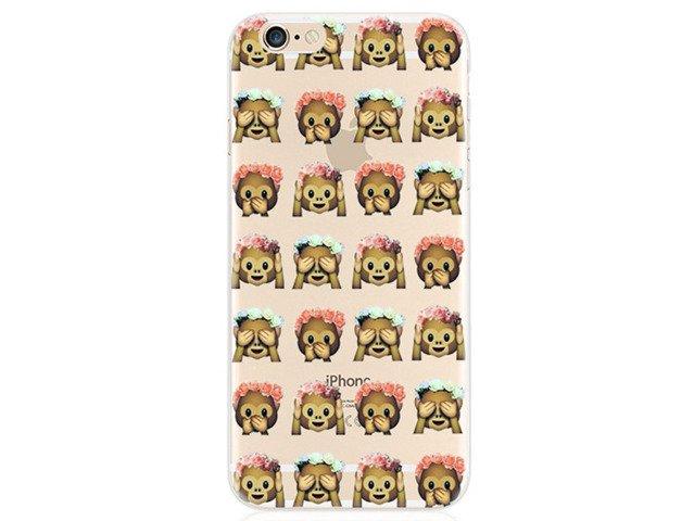 Etui Case Silikon iPhone 6/6s Emotikony MAŁPY