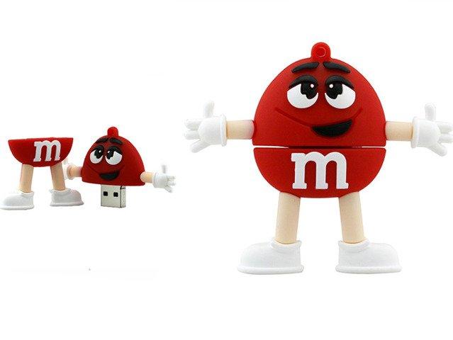 PENDRIVE CZERWONY M&M's USB Flash Prezent
