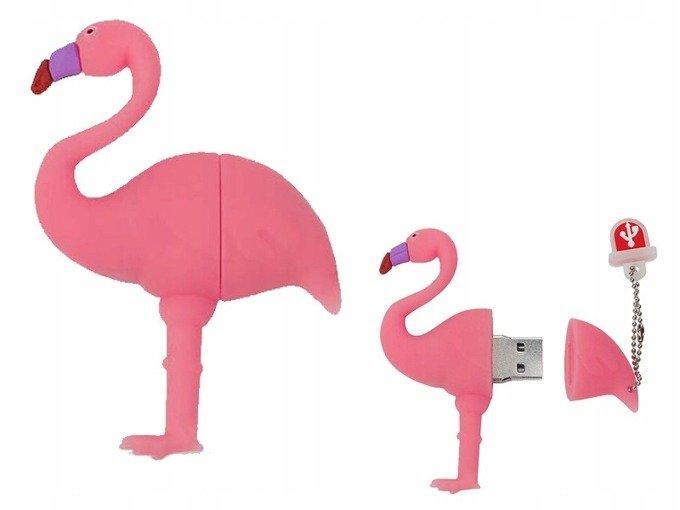 PENDRIVE FLAMING Róż Ptak Flash USB PAMIĘĆ 8GB