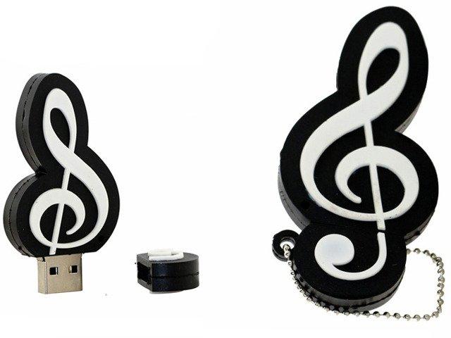 PENDRIVE Klucz WIOLINOWY MUZYKA USB PAMIĘĆ 16GB